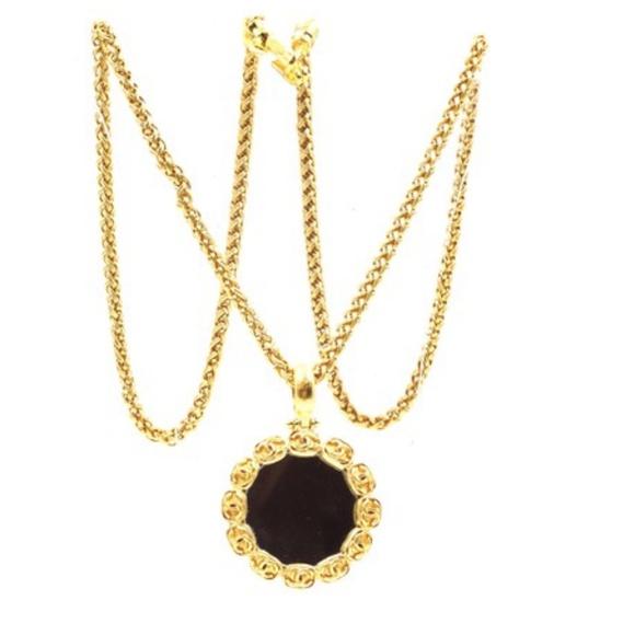 CHANEL Jewelry - Around Mirror Charm Interlocking Chain Necklace